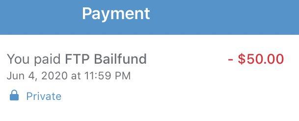 I donated to the Bronx bail fund tonight. Venmo @ftp4bailfund. Match me? twitter.com/jangelooff/sta…