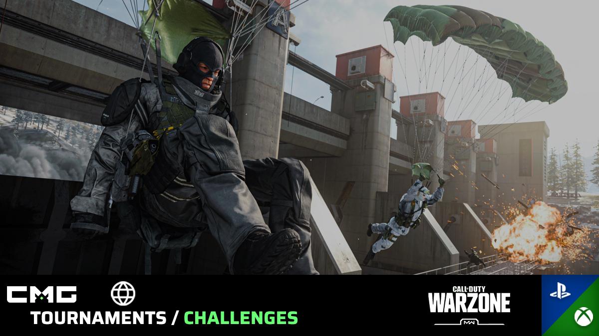 Upcoming #ModernWarfare #Warzone Tournaments!  Time in EST   12:30AM 1v1  2:30AM $50 GTD 2v2  3:30AM 2v2  4:30AM 1v1  5:30AM 2v2  6:30AM 1v1 #PS4 & #XB1 https://www.checkmategaming.com/tournament/cross-console/warzone?utm_source=CMGEsport&utm_medium=Tweet&utm_campaign=526…  #CMG #BattleRoyalepic.twitter.com/PvzqivAO0L