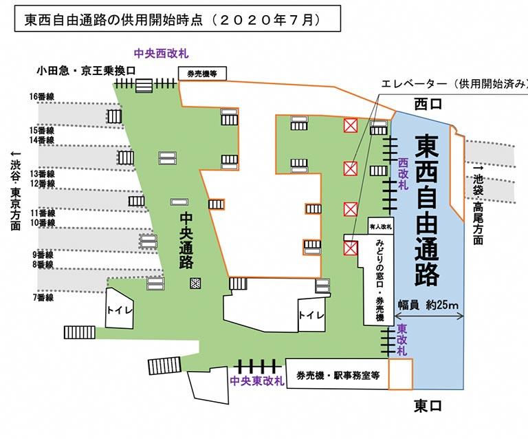 7月19日開通です~新宿駅の東西自由通路、いよいよ開通 「ダンジョン攻略が楽になる」「やっとこのときが来たか」歓喜の声 @itm_nlab #東西自由通路 #新宿駅 #新宿迷宮 #ねとらぼ交通課
