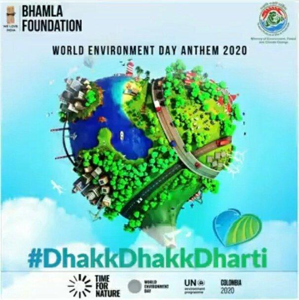 This #WorldEnvironmentDay, watch bollywood celebrities unite for our #Environment, with the song #DhakkDhakkDharti, & tell us about #Biodiversity Click: https://t.co/dI3JRxP6aL @akshaykumar @AdnanSamiLive @bhamlafoundatio @UNEP @bhumipednekar @RajkumarRao @taapsee @Shankar_Live https://t.co/3ZQzRW0bag