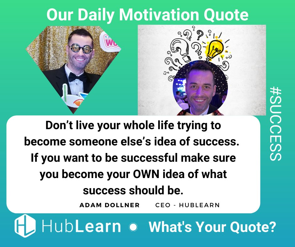 Be inspired by this nugget of #WISDOM from HubLearn's CEO/Founder, Adam Dollner. Adam seeks to empower YOU by sharing knowledge from his various life experiences. Reflect on his words, apply them to your life and watch yourself #GROW. #quotes #hublearn #empowerment #motivationpic.twitter.com/6PrxzzLlPm