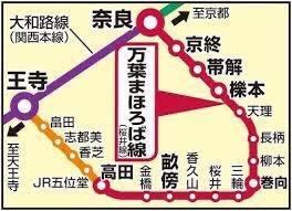 いま鍵アカさんからタレコミがありました。古代日本がそのまま21世紀に突入したような路線「万葉まほろば線」。古代語のオンパレードで難読駅名続出。