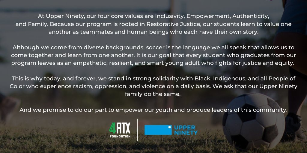 My people . We stand for inclusivity, empowerment, authenticity, and family @UpperNinetyATXpic.twitter.com/GgqmBnQ3z5