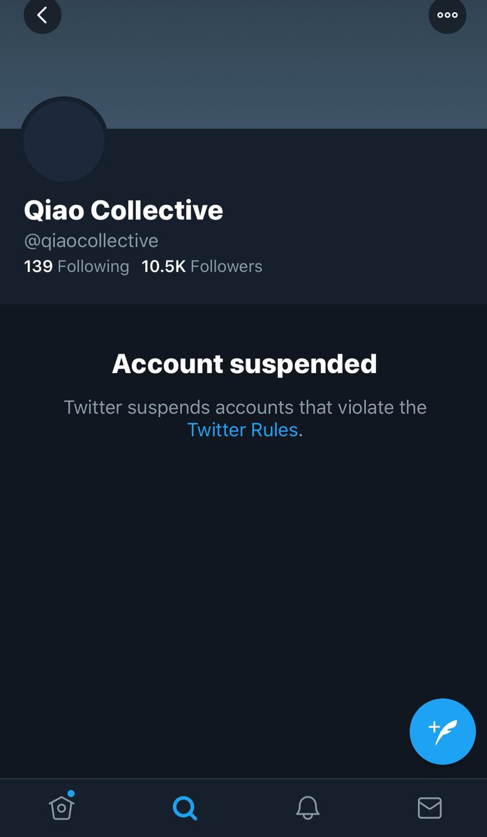 RT @AsianBot2000: So @twitter seriously just banned Qiao Collective. Well done, haters. https://t.co/nfAGIxltky
