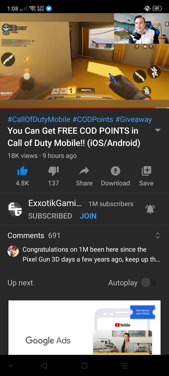 Love u man and more blessing to come 1M LETS GO@ExxotikGamingpic.twitter.com/jUN2MjACmy