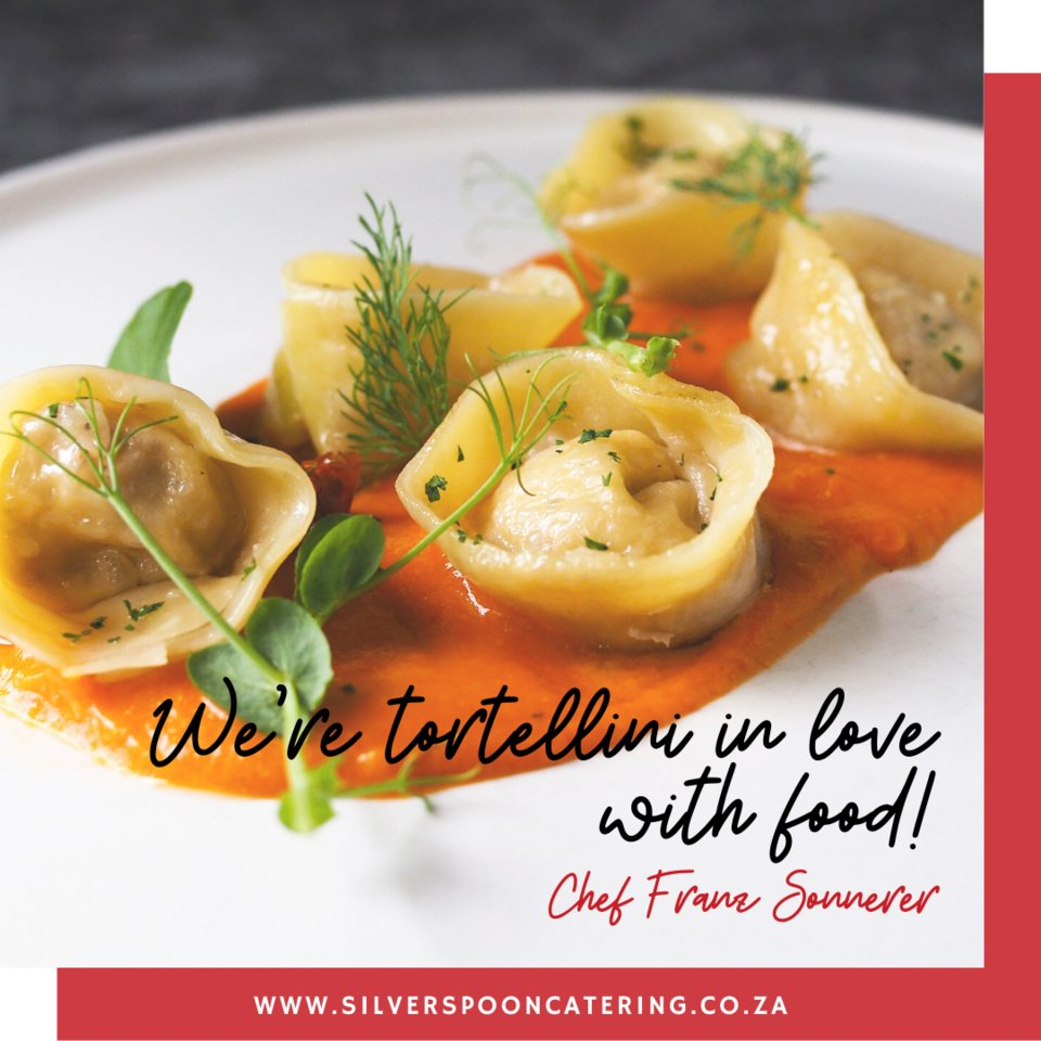We're tortellini in love with food. Aren't you?    #cheffranzsonnerer #cookingwithstyle #cookingwithpassion #heatandeatmealsdelivered #chefincapetown #cheflife #foodfun #foodpuns #laughalittlepic.twitter.com/TKczmrXvbL