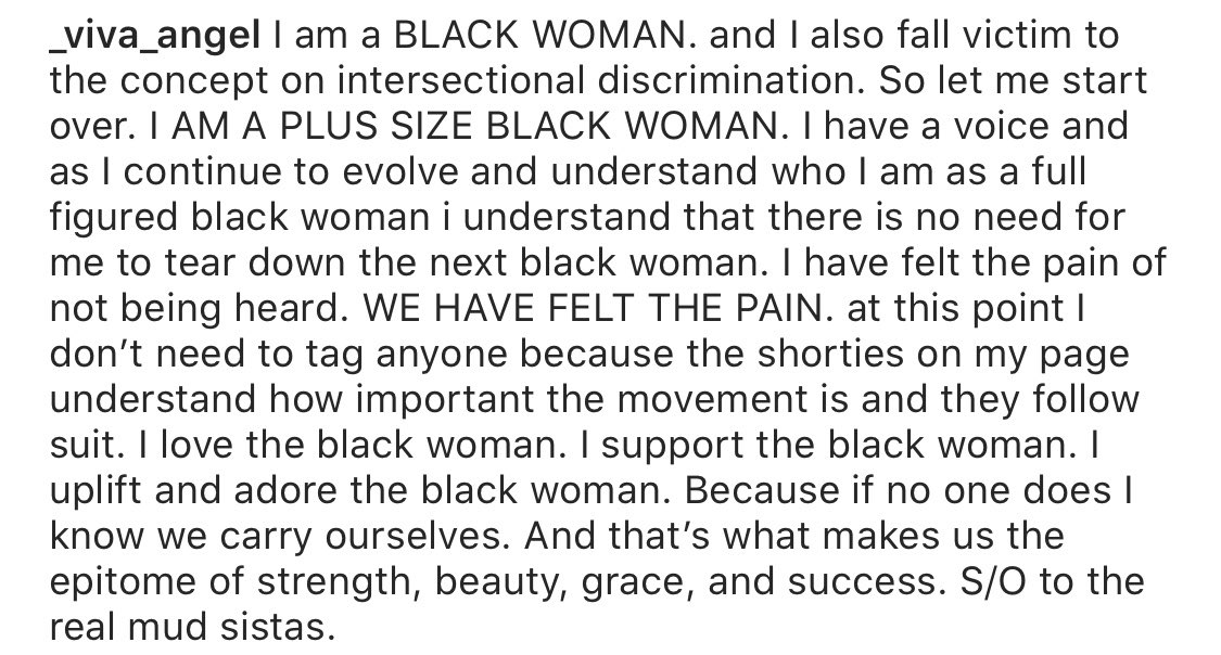 A word: had to switch my shit up to fit the occasion. S/O to the juicy chocolate women that continue to be ridiculed, silenced, overlooked, under appreciated. Let's remember plus size black women are included in the blm movement. I won't let you. pic.twitter.com/8Gt62jr79e