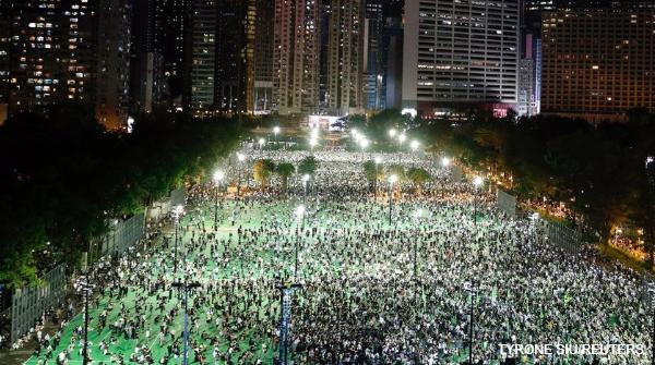 香港で天安門事件に抗議する集会【#写真】#香港
