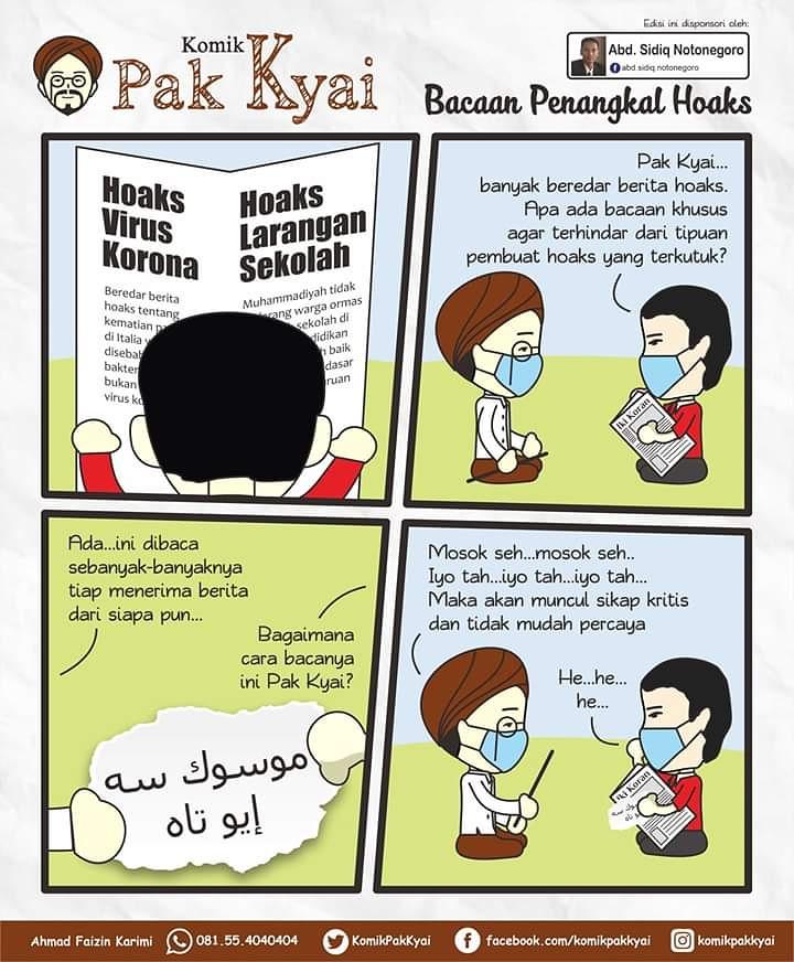 Komik Pak Kyai ~ edisi Bacaan Penangkal Hoaks https://t.co/rMsDWfS9hI