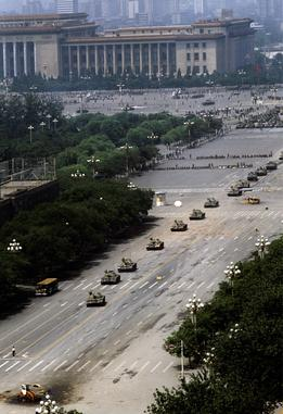 Tank Man, Tiananmen Square, 1989 - photo by Stuart Franklin