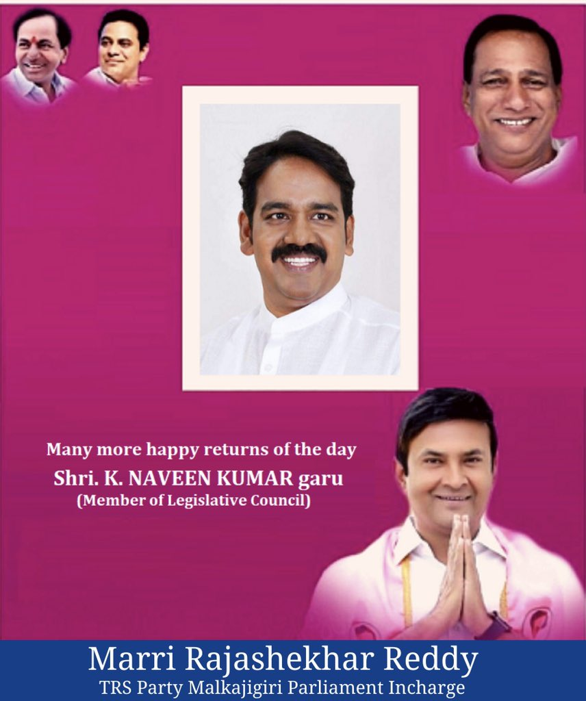 A very Happy Birthday to Shri. K. Naveen Kumar garu - Member of Legislative Council. May God bless you with happiness, good health & success. pic.twitter.com/03rReqiqkZ