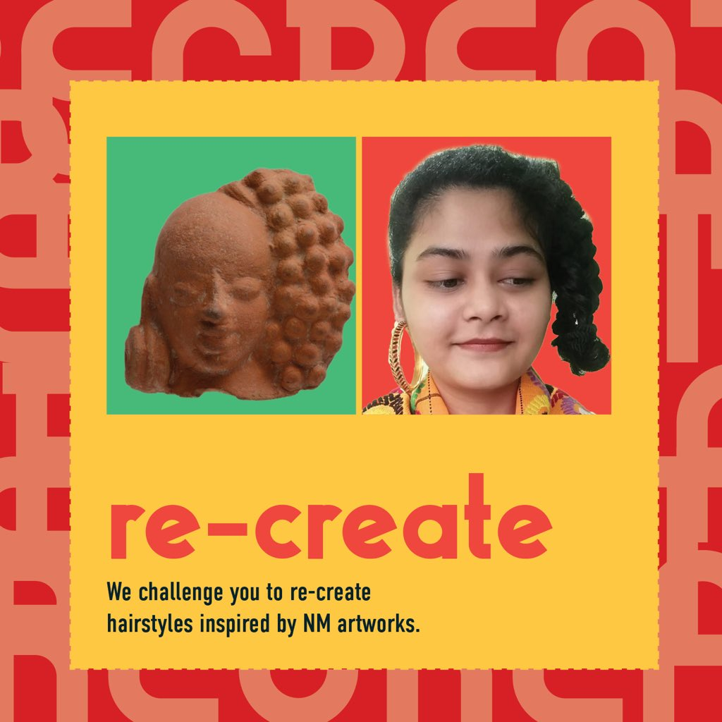 #NMChallenge Ever been intrigued by the variety of hairstyles that you see in museum artworks?We now challenge you to re-create your favorite hairstyle inspired by NM antiquities.Check our online collection for inspiration http://museumsofindia.gov.in/repository/museum/nat_del… Or follow for our posts  all day.pic.twitter.com/Le12wPRFga