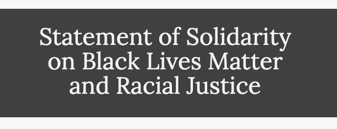Image for the Tweet beginning: Statement of Solidarity on Black