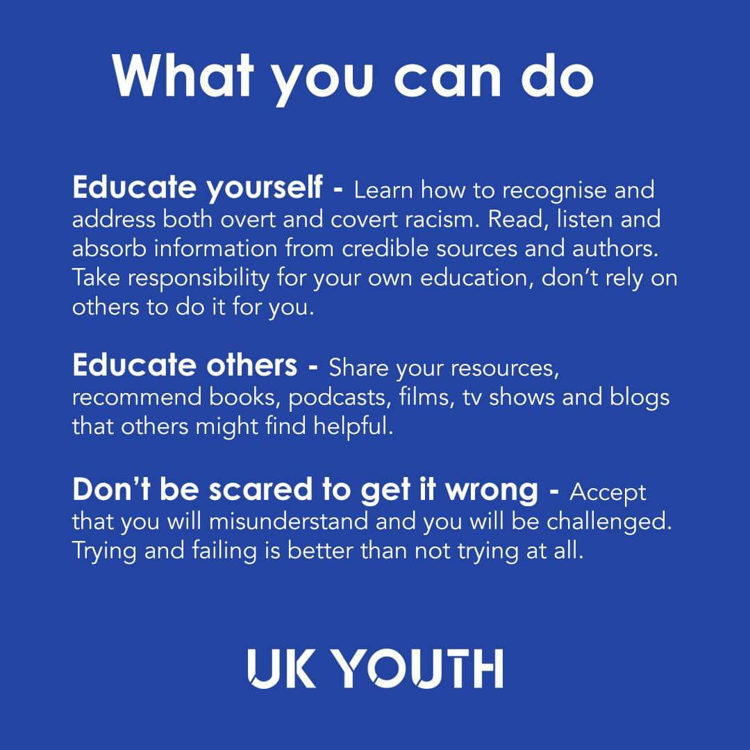 @UKYouth have put together some resources on how to be anti-racist. This is a journey and doesnt stop here. It starts with us ❤ #BlackLivesMatter