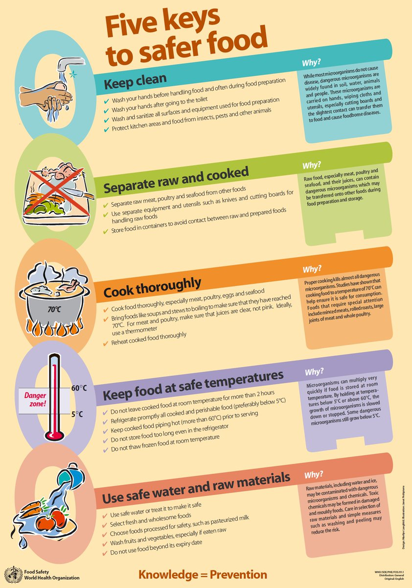 #WorldFoodSafetyDay Follow the 5 keys to safer food to ensure food safety at home @WHOpic.twitter.com/ChkB8xZ5ZI