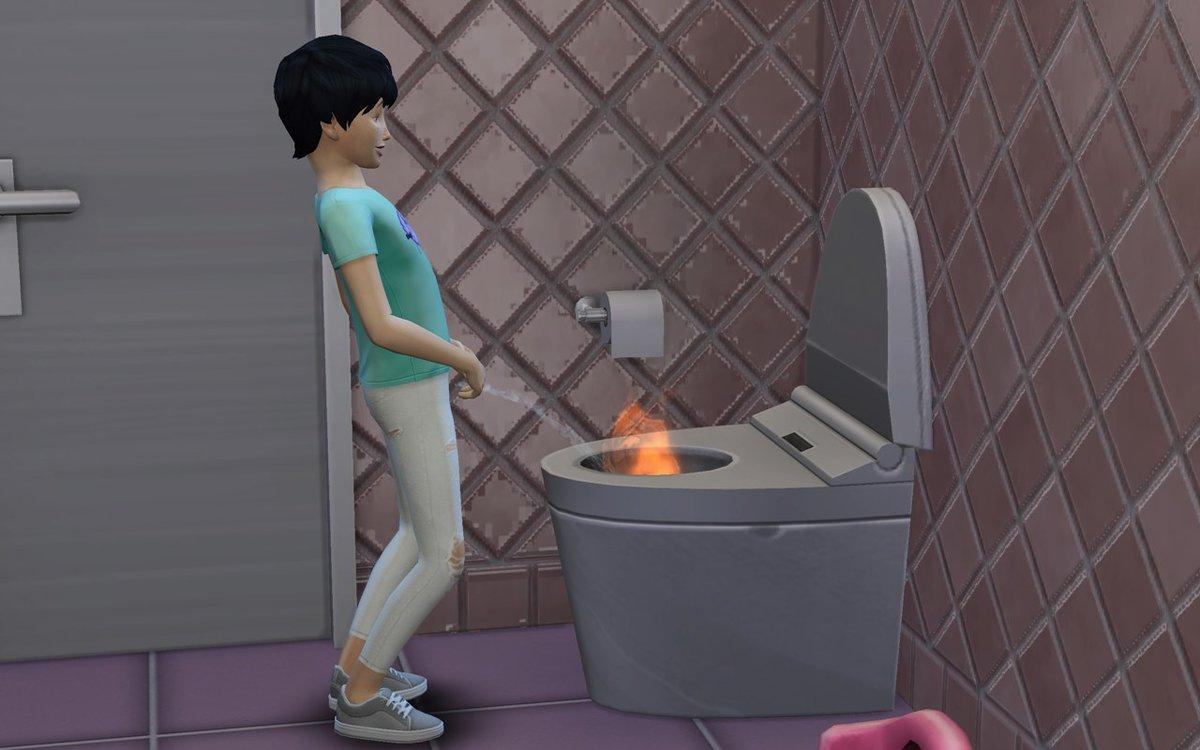 【ニュース】『The Sims 4』にて、シムが「燃えるおしっこ」をする不具合が発生中。尿煙立つ