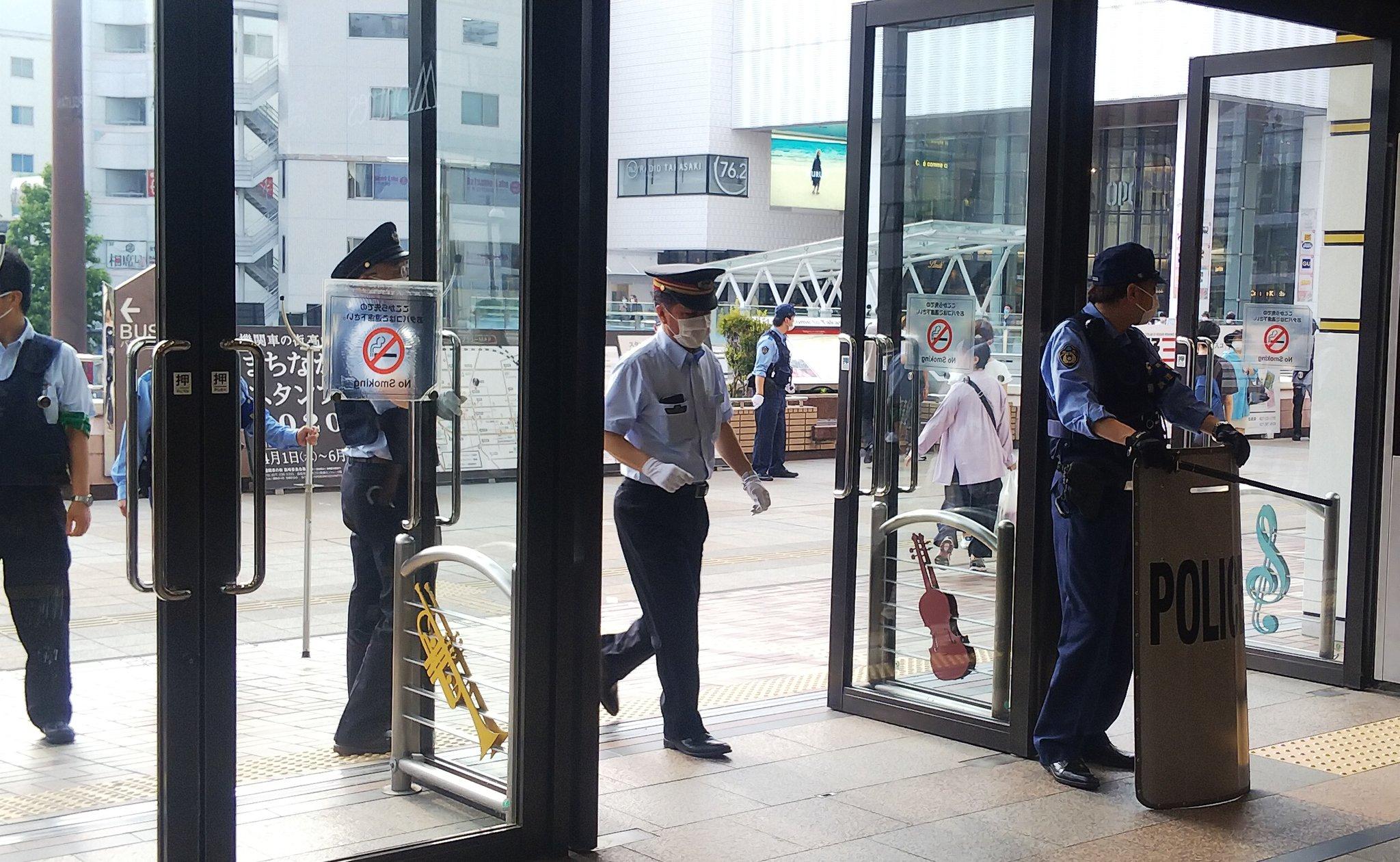 高崎駅で刃物男が暴れる事件が起きた現場の画像