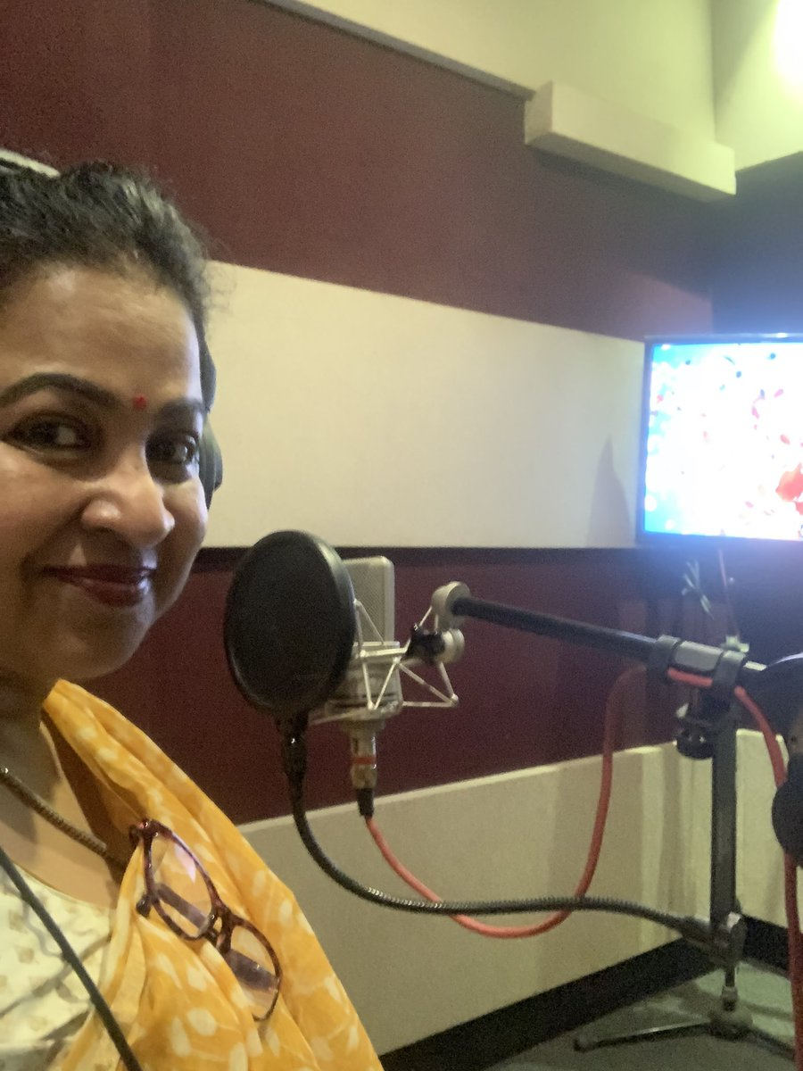 Finished dubbing for #KuruthiAattam very very interesting film. Looking forward 👍👍 https://t.co/09n0xY9VXu