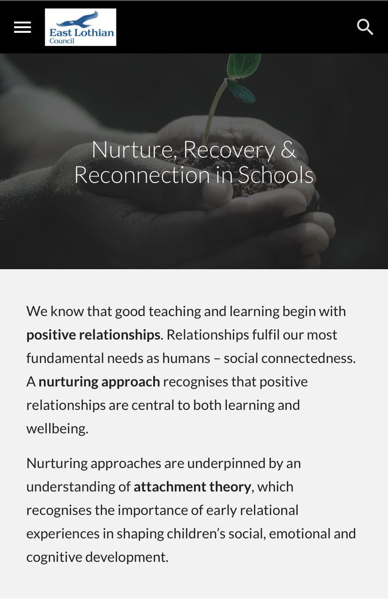 You can read East Lothian's nurture guidance online to discover what this means for early learning, childcare and schools, and why it is so important to help learners recover and reconnect https://t.co/EIcxdsREO3 https://t.co/SIJlQCie9y