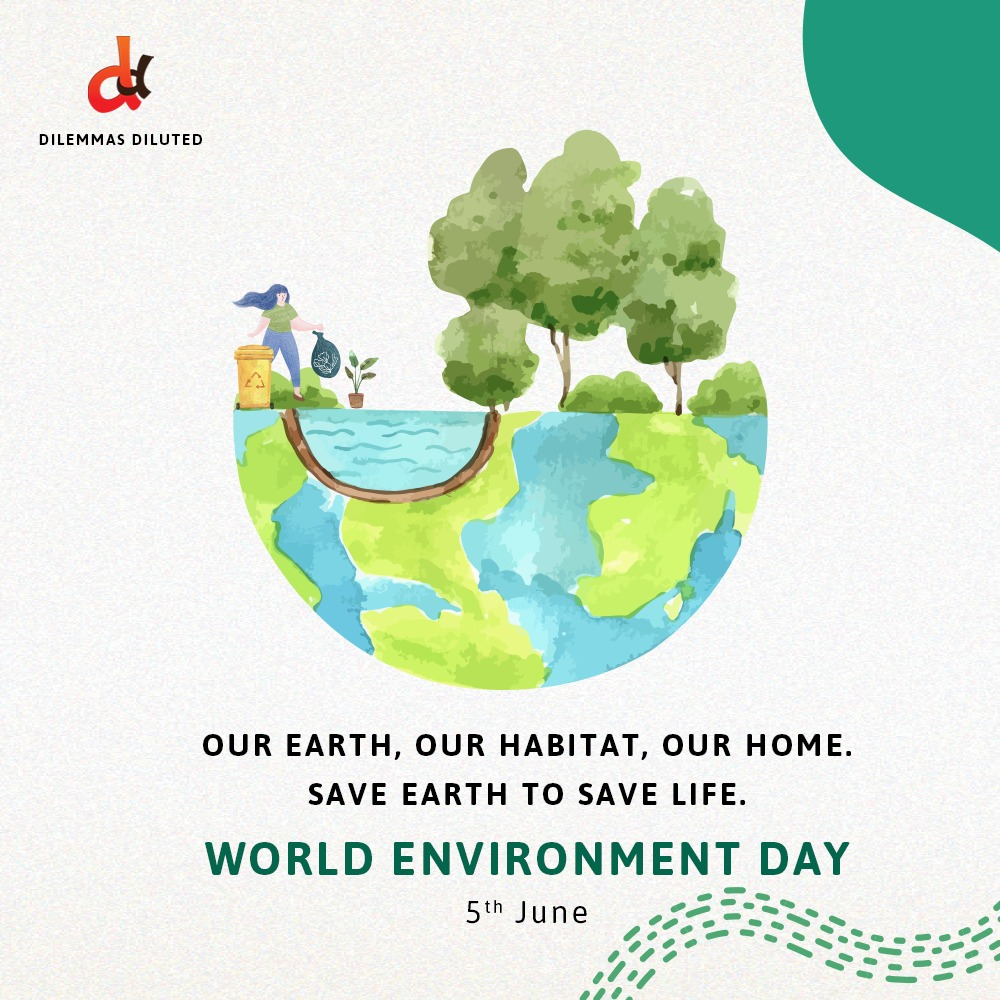 Happy #WorldEnvironmentday from team Dilemmas Diluted  #environmentday #saveplanetearth #timefornature #stayhomestaysafe #savetheearth #climatechange #worldenvironmentday2020   #SocialMediaManagement #marketingconsultant #indianstartups #brandingstrategy #brandingconsultant https://t.co/0Zci2HVkk6