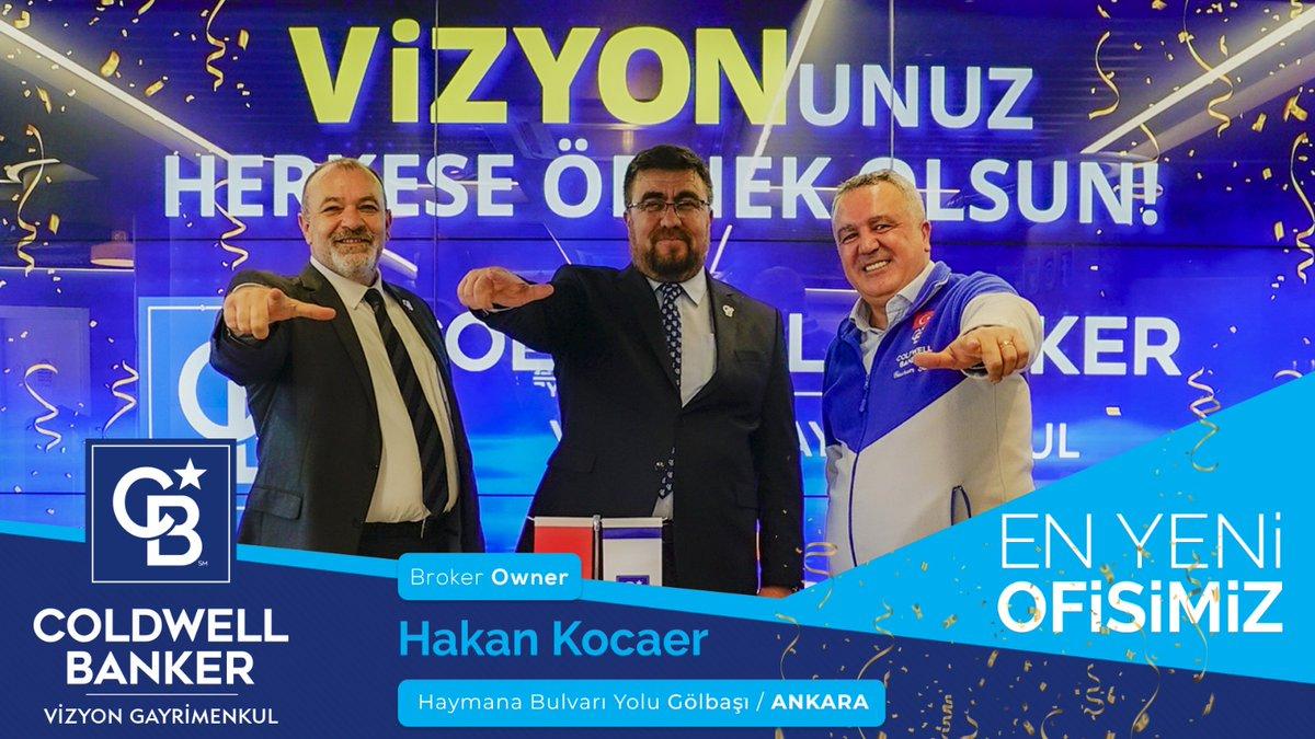 Gayrimenkul Satışında Dünya Lideri Olarak  her dönem BÜYÜMEYE Devam Ediyoruz! En Yeni Ofisimiz Coldwell Banker Vizyon Gayrimenkul Haymana Yolu Bulvarı-Gölbaşı- Ankara'da açılıyor! En Yeni Broker'ımız Hakan Kocaer'i kutluyor ve başarılar diliyoruz! #CBTurkiye #CBVizyon https://t.co/OCL8EUWfjz