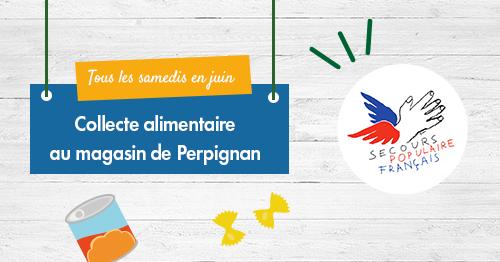 Tous les samedis de juin, l'équipe de #Perpignan vous propose une collecte alimentaire au profit du @SecoursPop ! En faisant vos courses, n'hésitez pas à faire don de pâtes, riz, conserves, produits bébé et d'hygiène pour les plus démunis. Ensemble, restons solidaires ! 💚 https://t.co/Lqd6xuUX0o