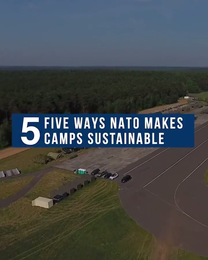 Reducing reliance on fossil fuels and making energy use more efficient is a win-win for NATO and the environment. 5⃣ ways #NATO is making its military camps sustainable. #WorldEnvironmentDay