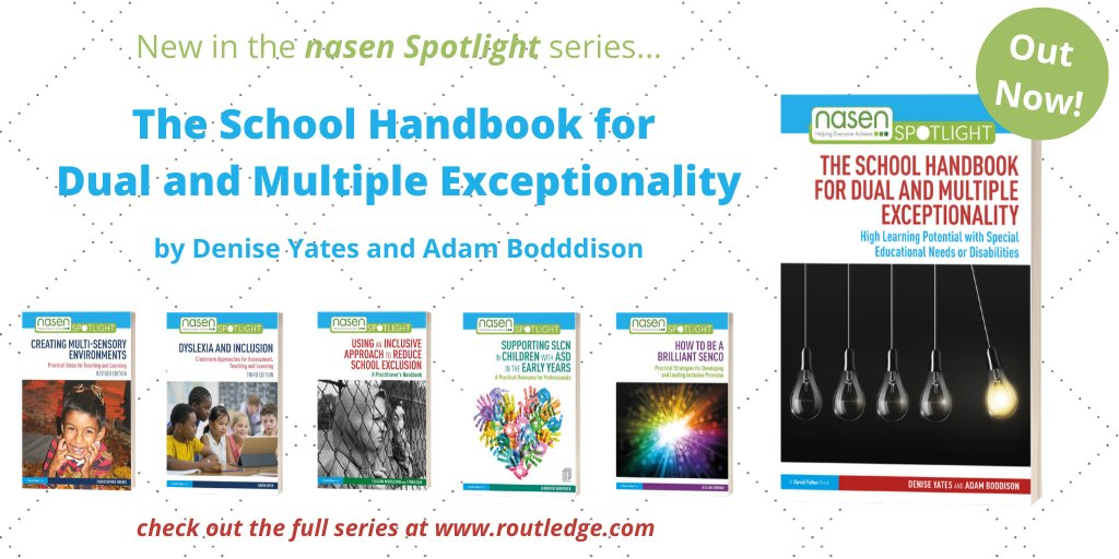With a🌟June Saver🌟at https://t.co/UcBTkDuyBO, now's the perfect time to take a look at the @nasen_org Spotlight series, which includes @DeniseYates_ & @AdamBoddison's practical new book to develop effective provision for learners with DME👀👉https://t.co/LA7aj5qqi5 📚#SEND #DME https://t.co/Wv7I0qdLel