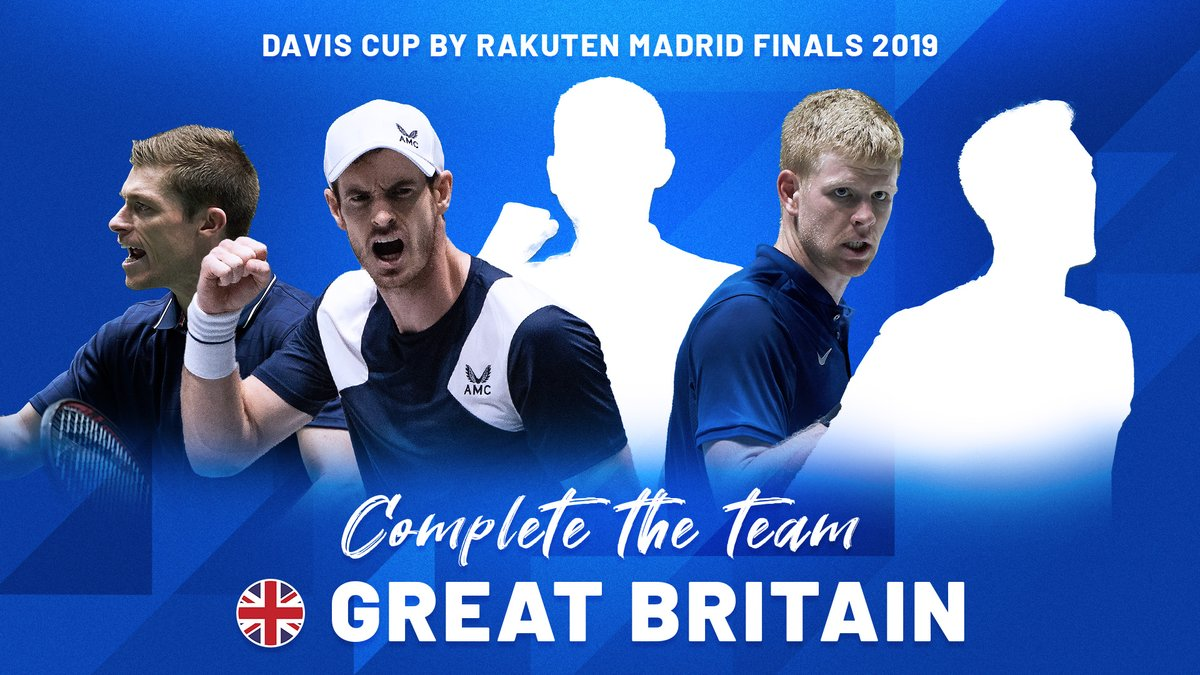 🇬🇧 Complete the team 🇬🇧  Who's missing?   @the_LTA | #DavisCupFinals #byRakuten https://t.co/GpeW86J9eW