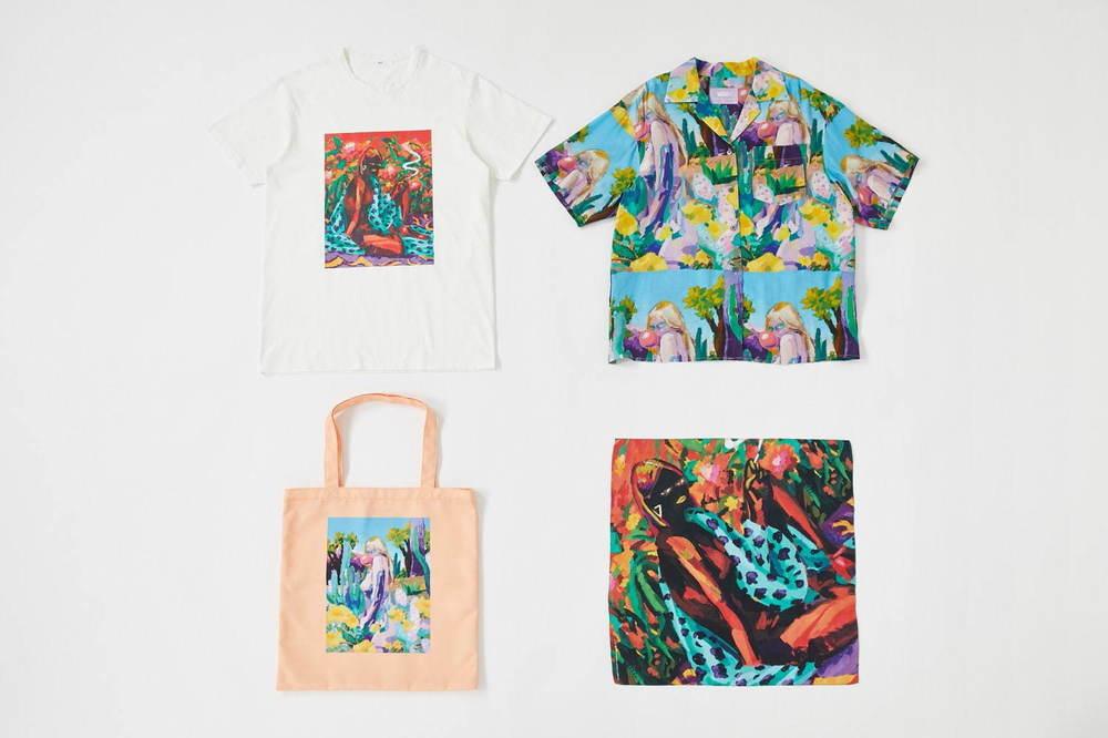 SLY×小澤雅志のアートプリントウェア、カラフルなグラフィック総柄シャツやオーバーサイズT -