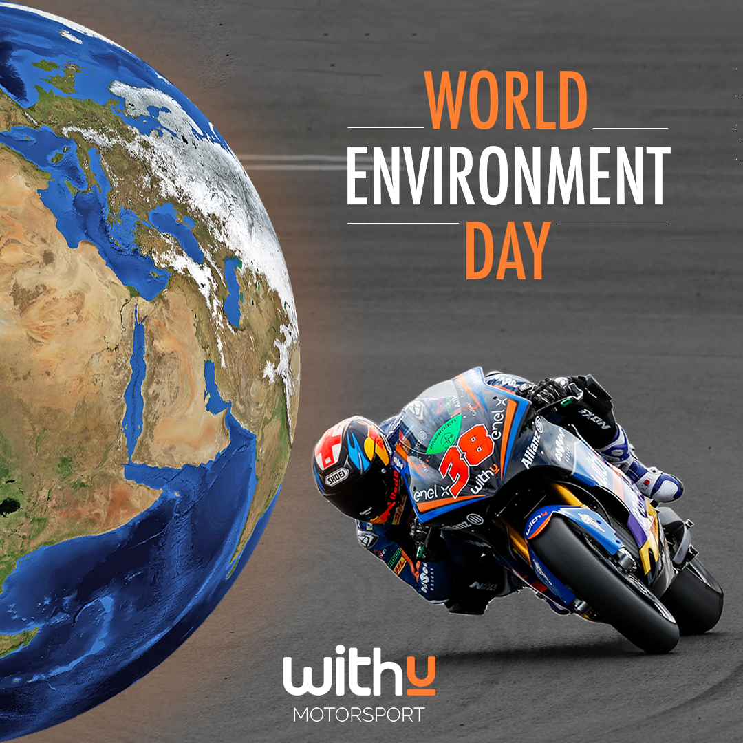 Today we celebrate #WorldEnvironmentDay Taking care of our environment is vital to have a brighter future for all 🌍 Together we can do it 💚 #BS38 | #MotoE | #withu | #passione | #energia | #energiapositiva