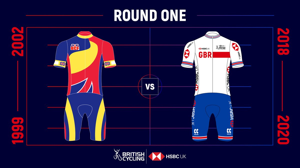 The final match up in round one of our Great Britain Cycling Team kit battle! 🤜🤛  Do the striking retro colours work for you or do you prefer the current kit?  Vote with the poll in the reply ✅👇 https://t.co/e9AQPnHdmZ