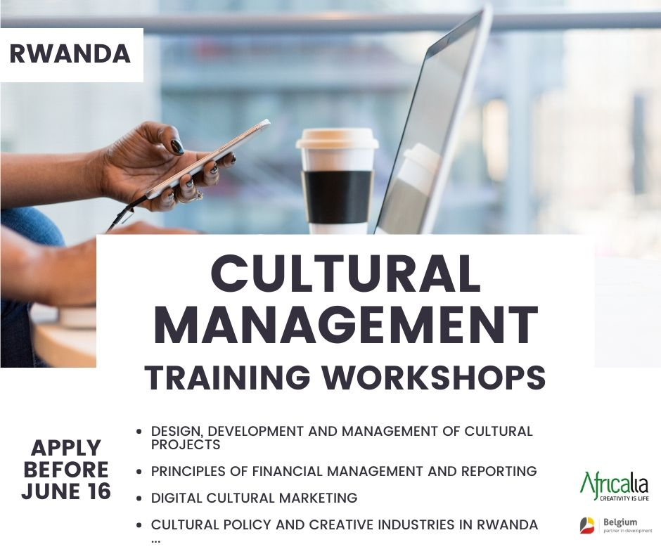 As part of its multi-year program 2017-2021, Africalia is launching a CULTURAL MANAGEMENT training for the CULTURAL SECTOR in RWANDA ! Want to participate? Apply before June 16 ⤵️ https://t.co/7uiq04szqq https://t.co/2uhmtQH5vq