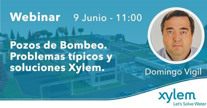 🖥️ #WebinarXylem -  9 de junio a las 11:00am Pozos de Bombeo-Problemas típicos/Soluciones Xylem  Veremos de la mano de especialistas los problemas de...