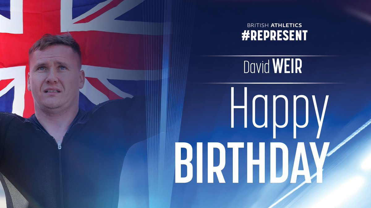 🎈 Happy Birthday to one of our greatest wheelchair athletes of all time on the track and the roads, @davidweir2012! 🎈 https://t.co/kg7BmEwT2F