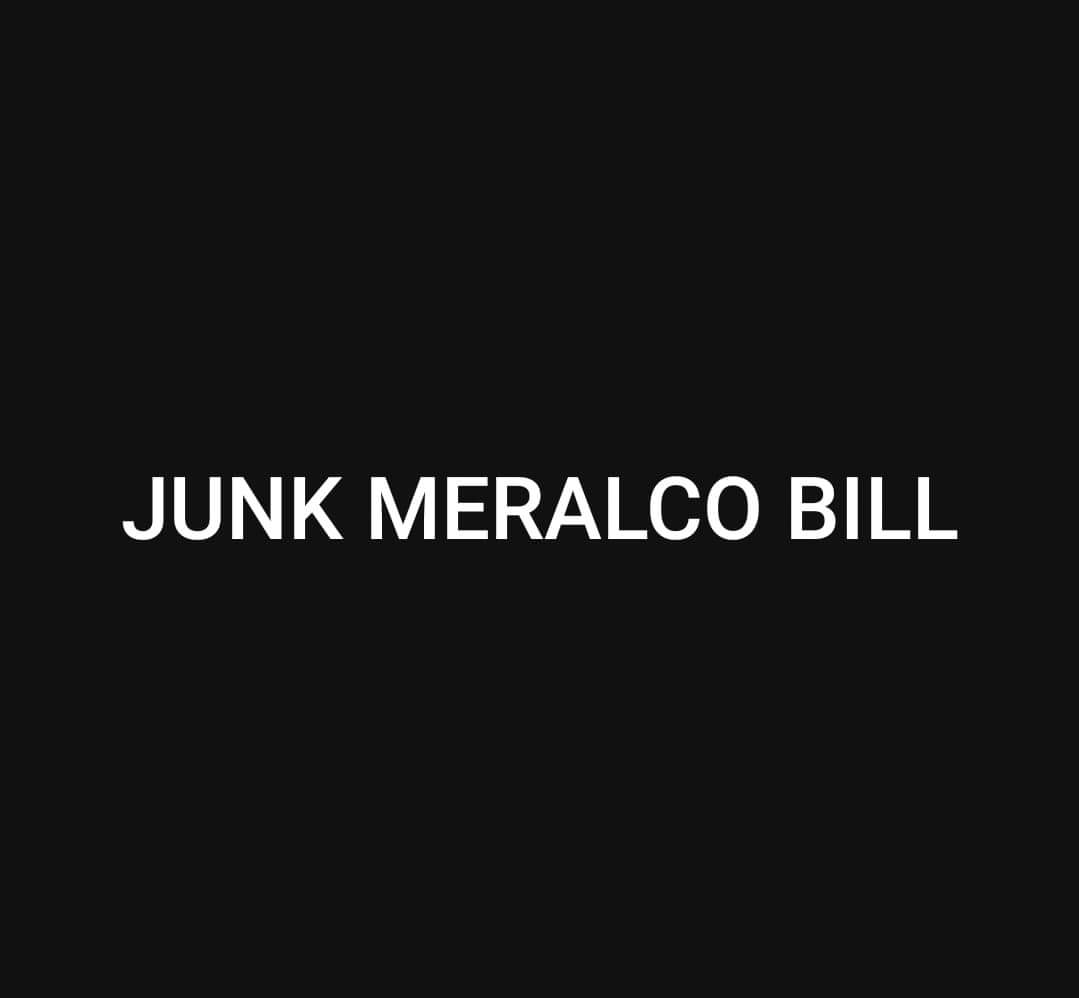 I think, no great divide here & all in favor. 🤣 #JunkMeralcoBill