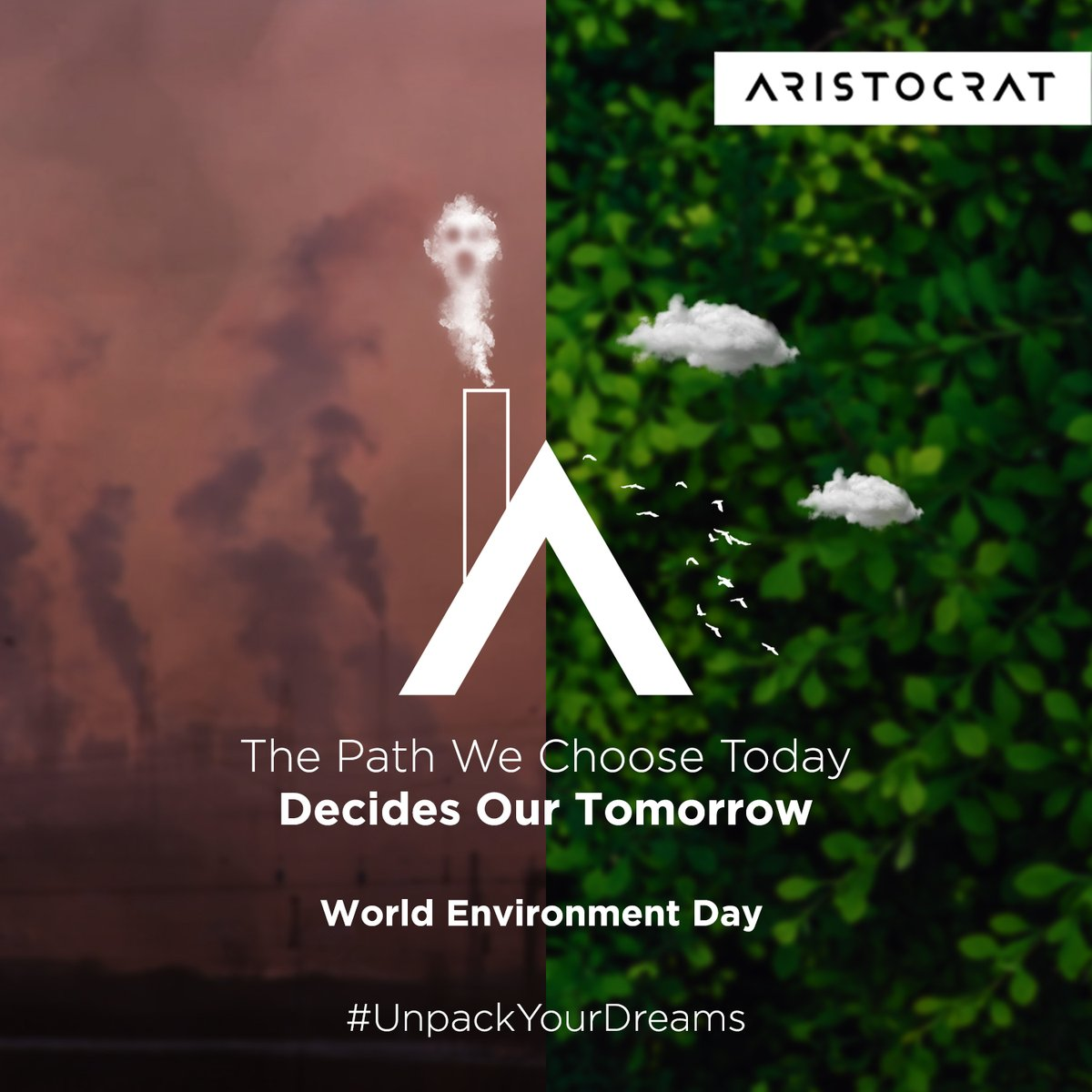 What lies ahead is in our hands. This Environment Day, let's commit ourselves to protect Mother Nature and welcome a green future.  #EnvironmentDay #WorldEnvironmentDay2020  #ForNature #CelebrateBiodiversity #SaveNature #GreenFuture #Aristocrat #AristoBags #UnpackYourDreams