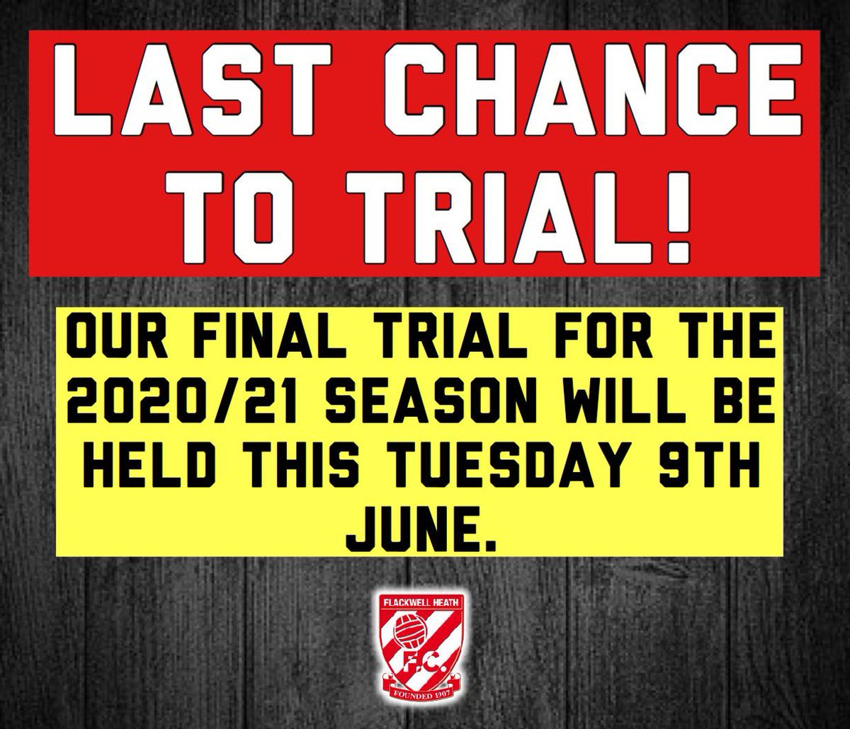 Last chance to trial! These trials will be ran slightly differently than normal however we will be working in small non-contact groups to assess technique, attributes and attitudes. Please contact danmuino@outlook.com for trial details.