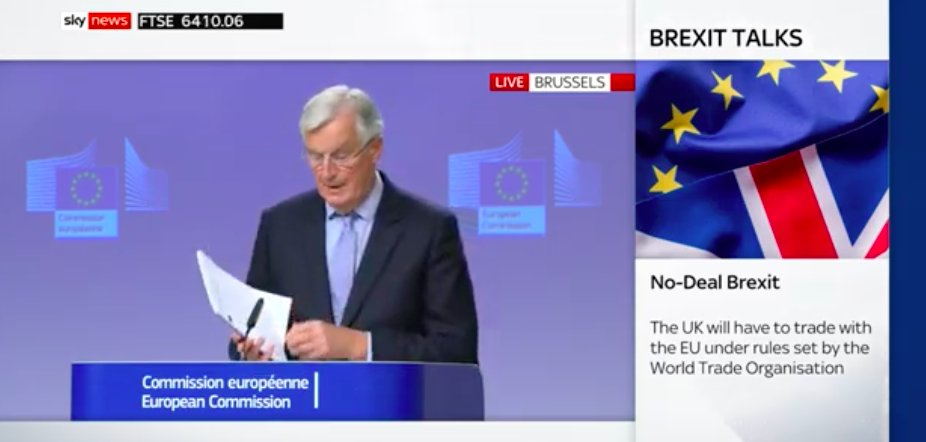 "Barnier, clearly irritated, gets out a copy of the Political Declaration...  ""We engaged on the basis of a joint PD that clearly sets out the terms of our future partnership.  ""This document is available in all languages, including English. It's not difficult to read."" https://t.co/XRuADyLuUG"