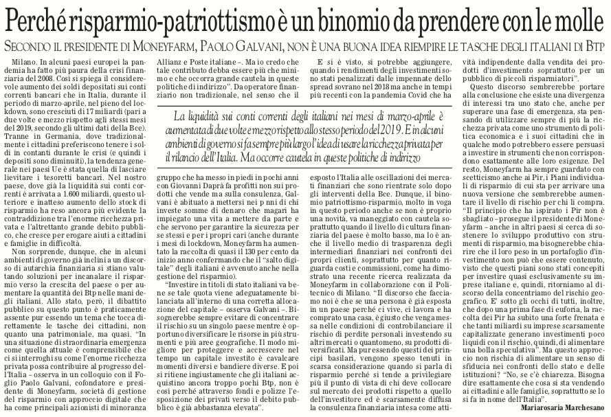 Attenzione a chiedere alle famiglie italiane di mettere a disposizione il risparmio per risolvere la crisi: l'intervista di @galvi a @ilfoglio_it #educazionefinanziaria #rischiopaese #risparmi #famiglie #investimenti #Covid19 #Btp #Pir #MEF https://t.co/Twzfs3lBKZ