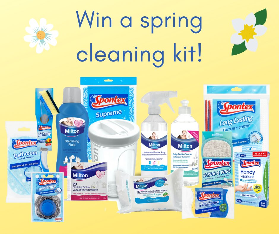 #WIN the ultimate #SpringCleaning kit, containing your favourite Milton products and @SpontexUK cloths and scourers: http://ow.ly/BsKn50zSp86  #giveaways #competition #competitions #freebies #freebiefriday #cleaningtips #cleaning #cleaninghackspic.twitter.com/Rh7JR1Fp7g