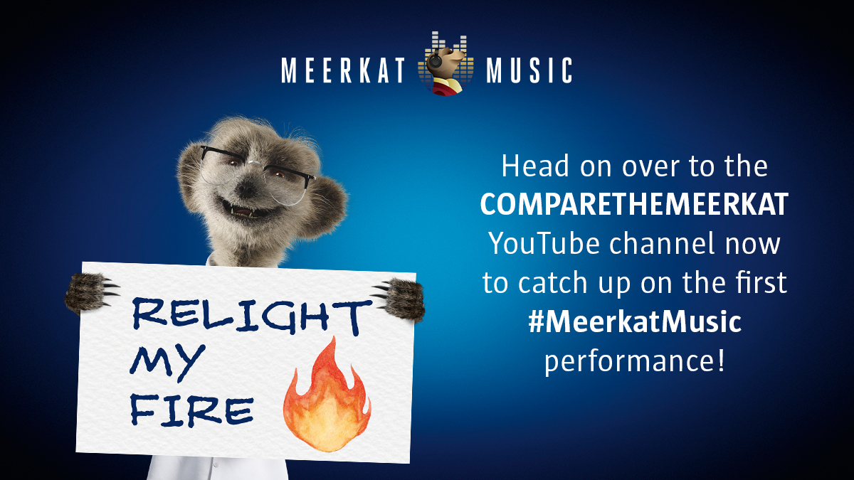 Why not relive the magic and enjoy a night in AGAIN with @Robbiewilliams @GaryBarlow @HowardDonald @OfficialMarkO by catching up on last week's #MeerkatMusic performance on the CompareTheMeerkat YouTube channel! https://t.co/tX1WzTsw1P https://t.co/KtSKTG9waI