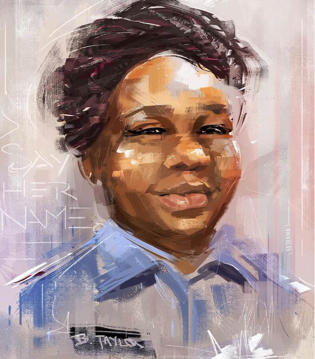 We are our sister's keeper. In honor of Breonna Taylor's 27th birthday, support her family's memorial fund. Find the link at obama.org/anguish-to-act…. #SayHerName Artwork: @4NIKKOLAS