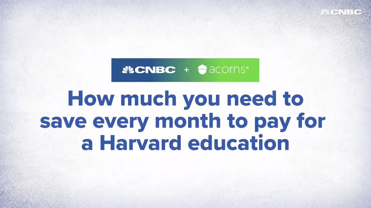 How much would you need to save to send your child to Harvard? Watch this to learn about what plan could work for you. #investinyou (In partnership with @acorns.)