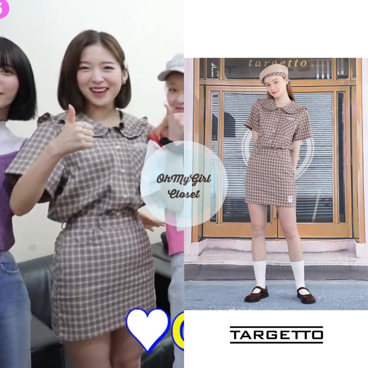 200605 #Arin - KCON:TACT star countdown video wearing  targetto - sailor check shirt ₩59,000 & skirt ₩52,000 #ohmygirl_targetto #omgc_arin  #OHMYGIRL #NONSTOP #아린 #오마이걸 #살짝설렜어 #ohmygirlfashion #ohmygirlstyle #ohmygirlcloset #퀸덤 #Queendom pic.twitter.com/8Zghs6ubWD