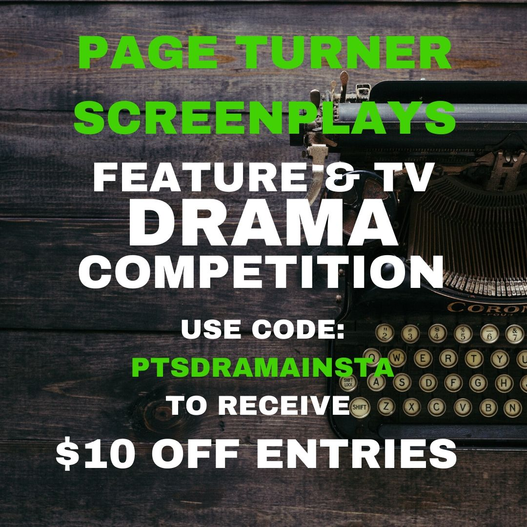 Final chance to ENTER and here is a discount good til the Deadline!  Use Code: PTSDRAMAINSTA here -   http://ow.ly/H1hv50zcbqQ  #screenwriter #screenwriting #screenplay #filmschool #tvwriting #writerscommunity #filmcommunity #writing #screenwriter #writer #writersofinstagrampic.twitter.com/pwS0s4WBwL