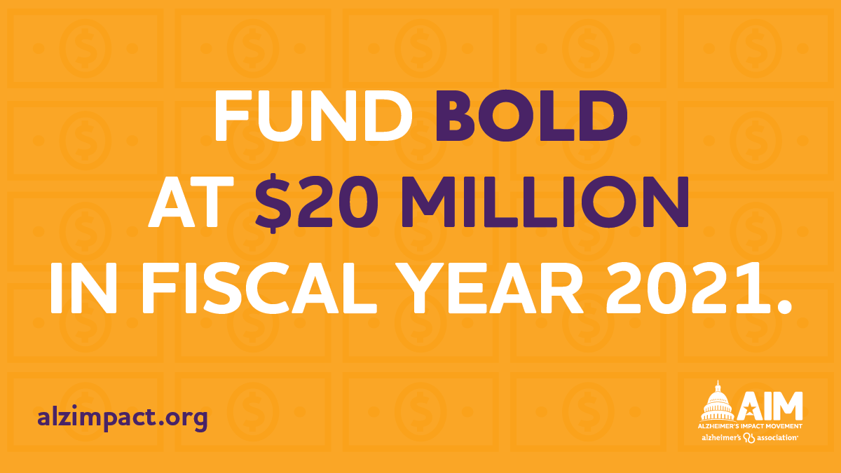 RT to join us in urging @SenatorBaldwin to support increasing Alzheimer's and dementia research at the @NIH and fully funding the #BOLDAlzheimersAct in the FY2021 Appropriations bill. #ENDALZ https://t.co/0sBXztPfW1