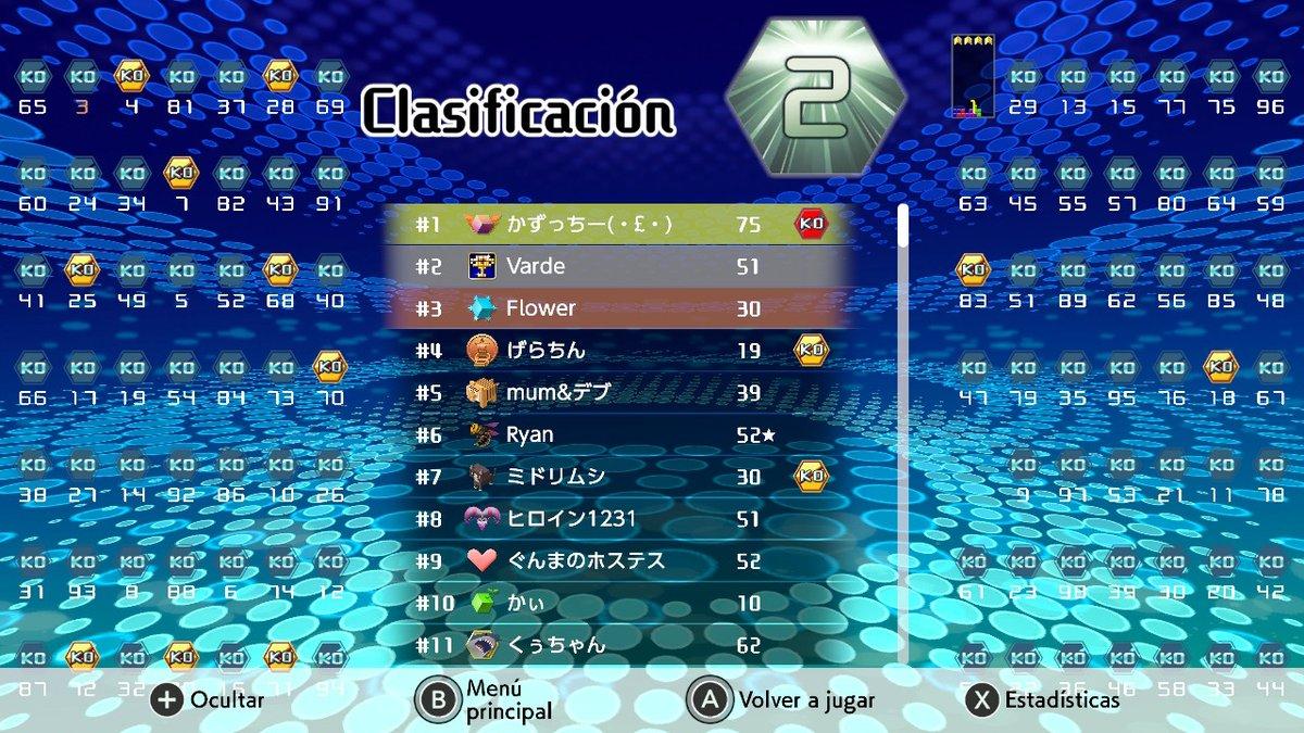 Don segundo sigue en  racha :^)  #Tetris99 #Tetris #NintendoSwitch