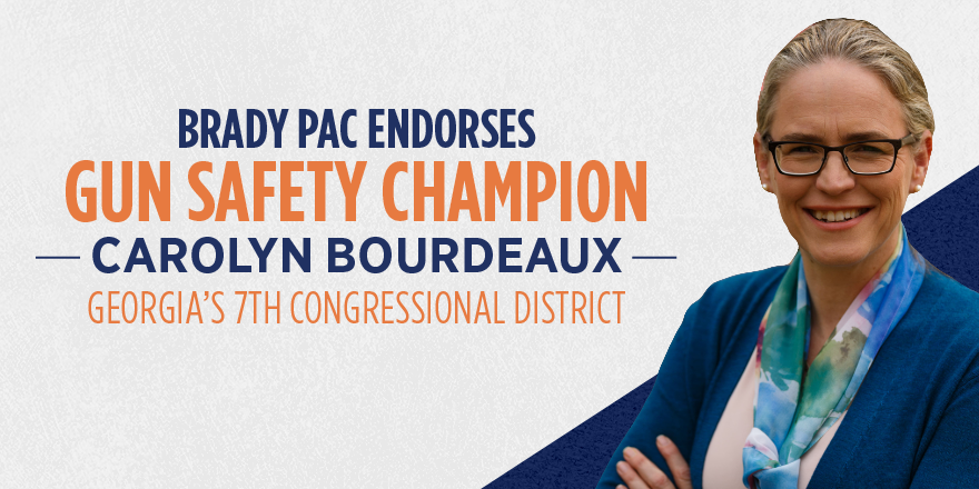 Universal background checks, a ban on manufacturing of assault-style weapons, and a safer community for Georgians. These are just a few of the things voters can expect if they elect @Carolyn4GA7 to Congress. We are proud to stand with her and offer our endorsement!