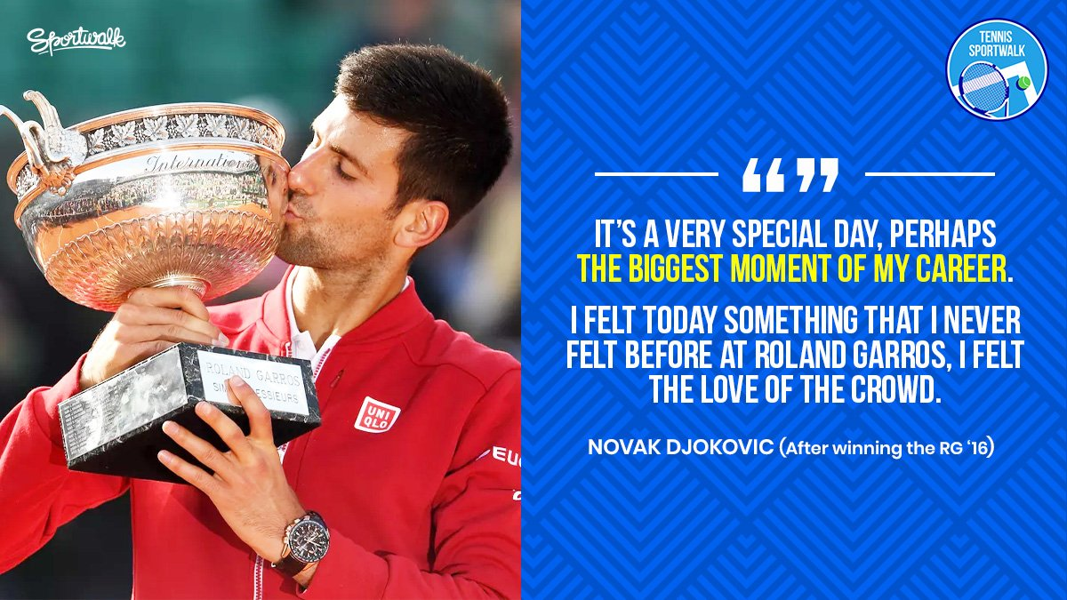 THE CAREER SLAM! @DjokerNole completed the career slam #OnThisDay in 2016 winning the RG for the first time.   Getty | #stayhome #tennisathome #novakdjokovic #djokovic #nolefam #federer #rafaelnadal #nadal #atp #atptour #tenis #tennis #Sportwalkpic.twitter.com/jgTKYXcReq